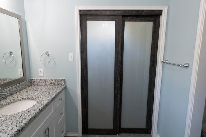 Sliding closet door