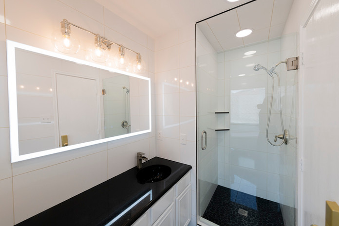 Dramatic Bathroom Remodel
