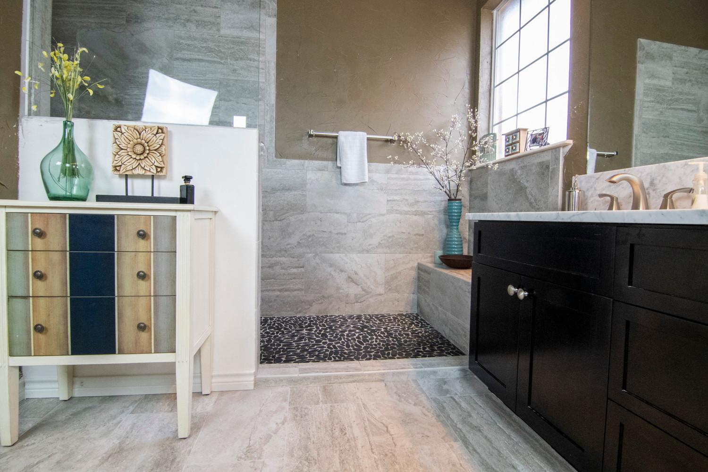 Coppell White Tile Bathroom Floor