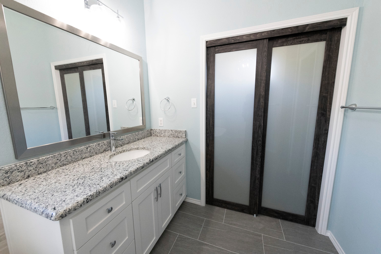 Light granite vanity