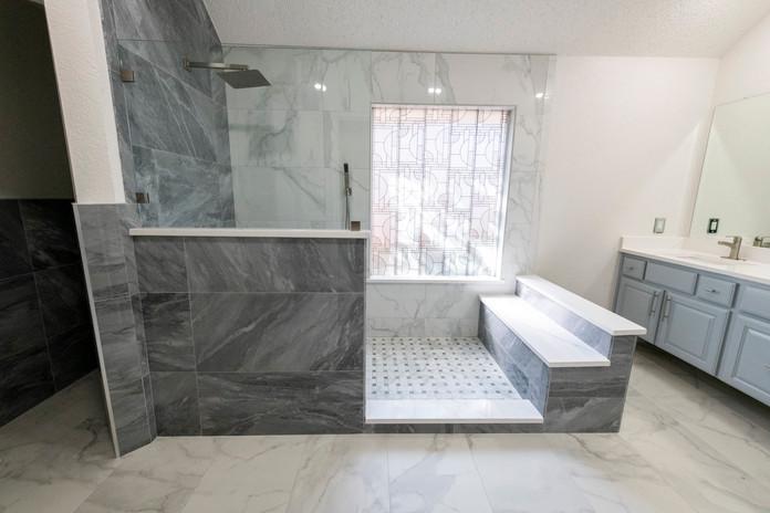 Halfwall Shower Remodel