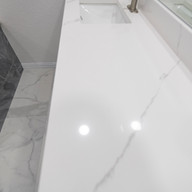 White Granite Bathroom