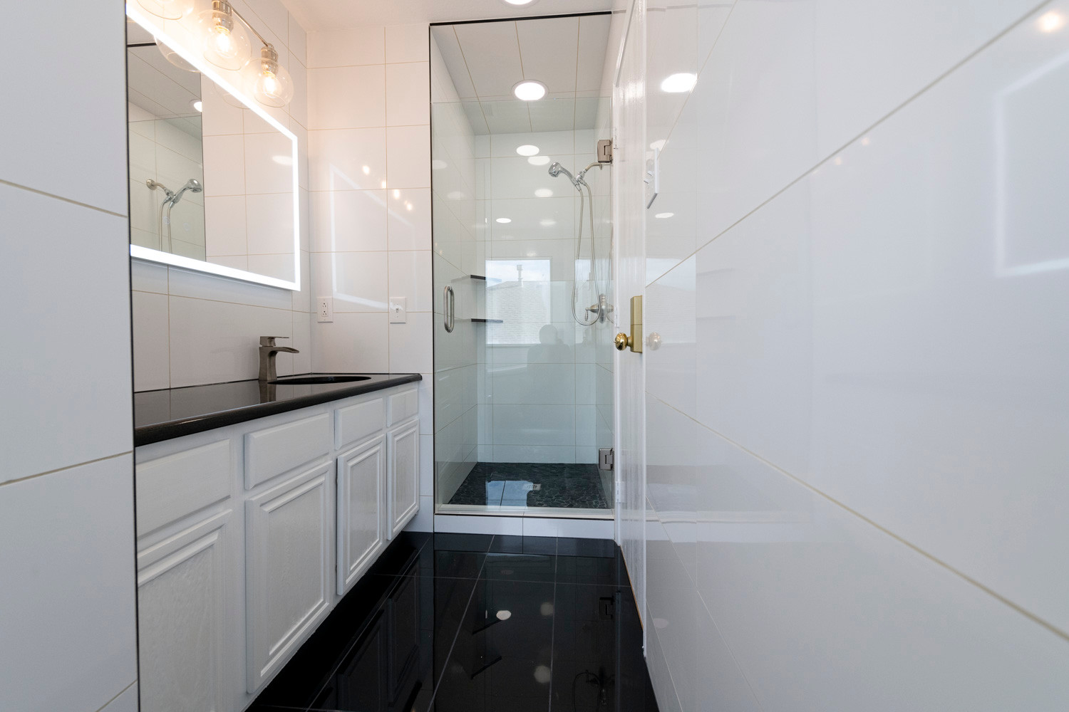 Black White Bathroom Remodel