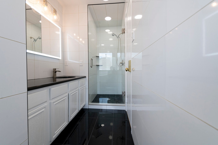 Black White Bathroom Remodel