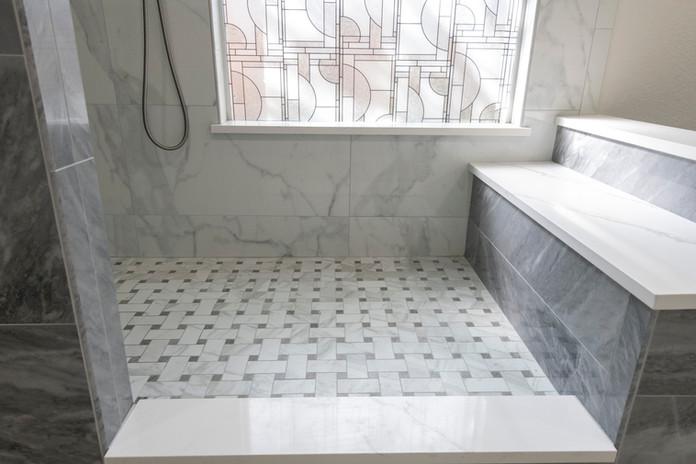 White Shower Quartz Granite
