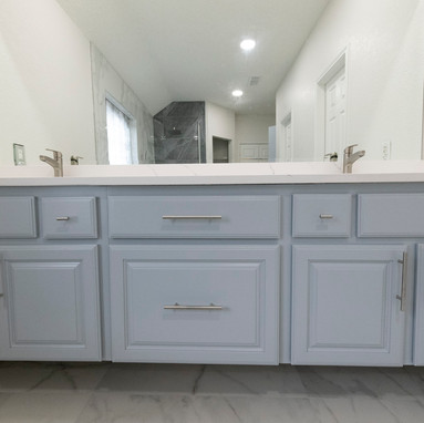 Blue Floating Cabinets