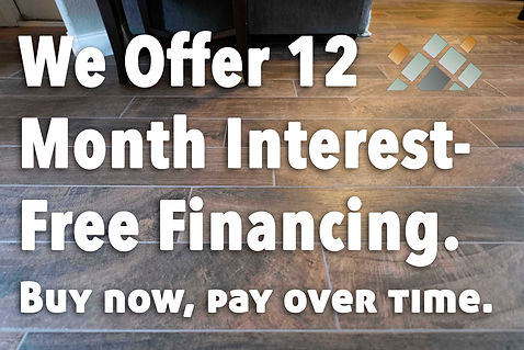 Zero Interest Finacing on Flooring Sales and Insallation