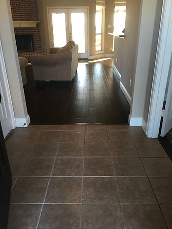 Replace tile with wood