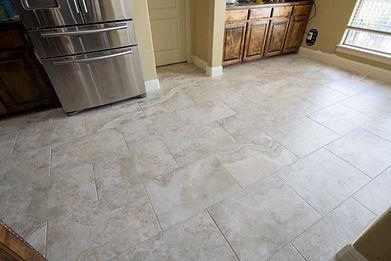 White Tile Travertine Flooring