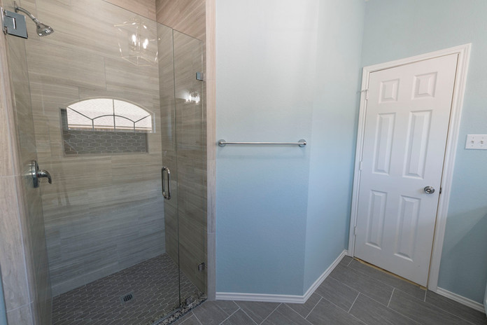 Brown shower wall tile