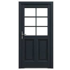 WOOD FRAME WITH INSERT PANEL DOORS