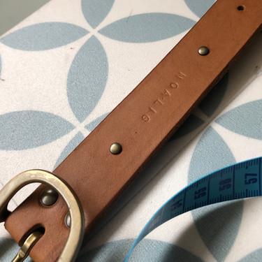 personnalisation d'accessoires en cuir