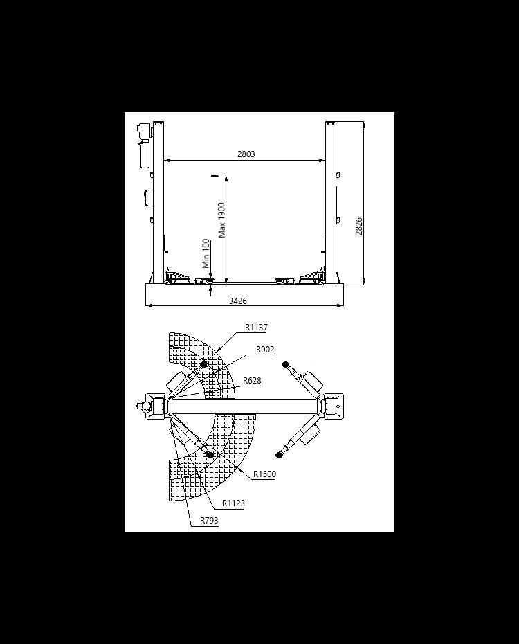 Bílalyftur EVOLUTION EVO-40E 1
