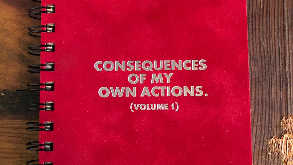 Consequences Velvet Journal
