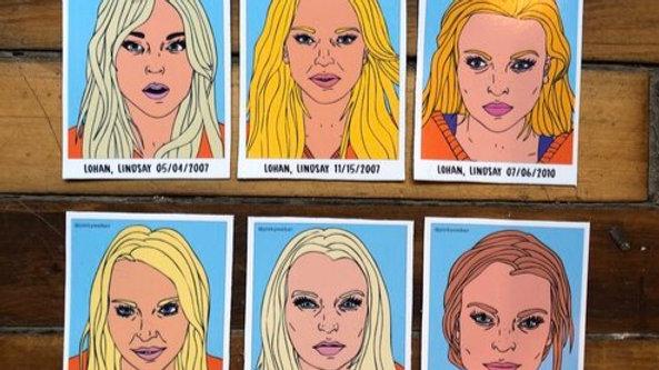 Lindsay Lohan Mugshot Magnets