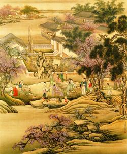 Leng_Mei_-_Figures_-_Spring_Evening_Banquet