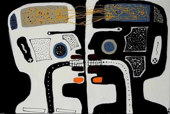 Mirror Neurons Painting by Pawel Zakrzew