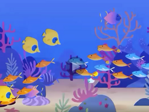 10 Little Fishies Swimming in the Sea 🐠🐟🐡