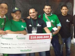 """Luis Yovany Romo ganador """"Hackathon Coomeva 2017"""""""