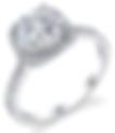 halo engagement ring, cushion halo