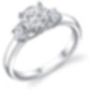 3+Stone+Engagement+Ring+Tropiano+Jeweler