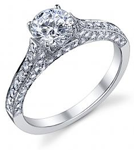 Pave+Set+Engagement+Ring+Tropiano+Jewele