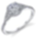 split shank halo engagement ring