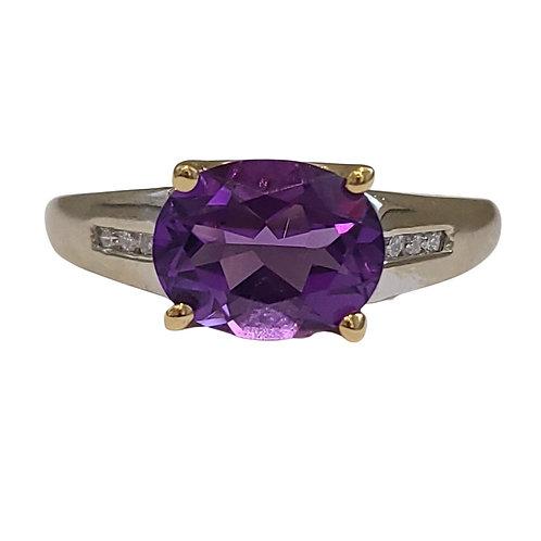 14kt Amethyst Ring