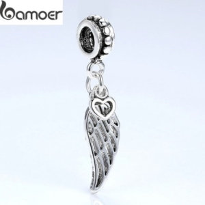 Hanging charm, wing and heart