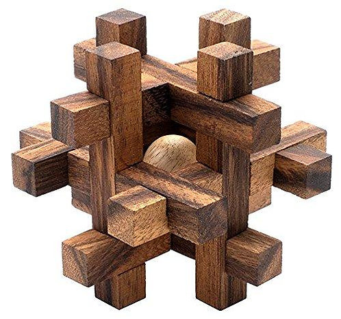 Wooden puzzle - lock-a-ball