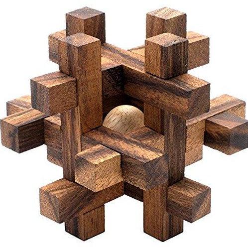 Puzzle en bois - lock-a-ball