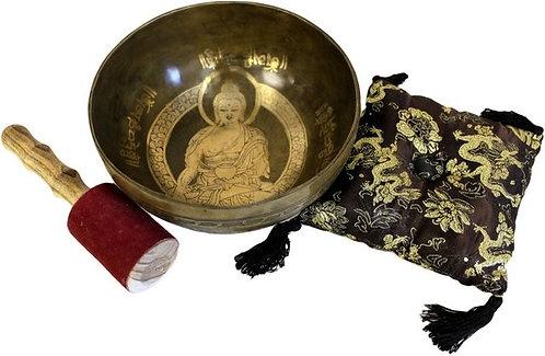 Ensemble spécial bol chantant - Bouddha doré