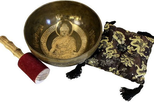 Special bowl set - brass golden Buddha