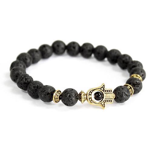 Natural stone bracelet - Lava stone