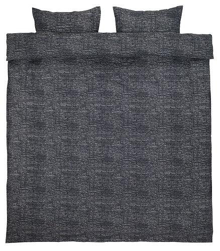 Flannel quilt cover set Filippa, grey