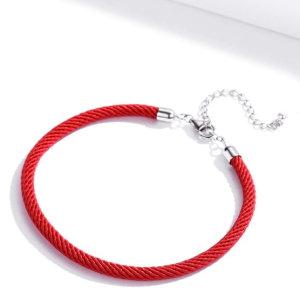 Sterling silver 925 charm bracelet in rope