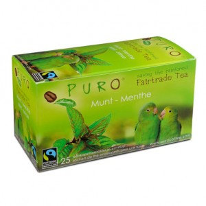 PURO, Fair-trade tea - Mint green tea