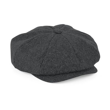 Gavroche cap in melton wool, fully doubled