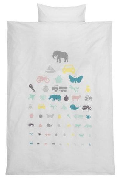 KRONBORG - Ensemble housse de couette imprimée pour bébés (70 x 100 cm)