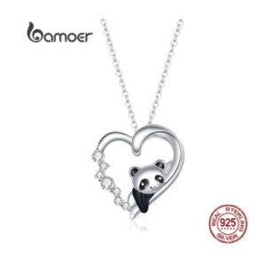 Necklace in sterling silver 925, panda