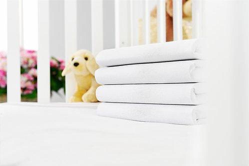 KRONBORG - Drap-housse blanc en jersey 100% coton pour bébés
