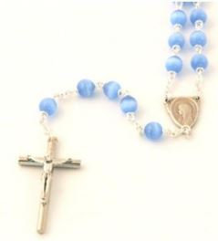 Rosary with cat's eye beads