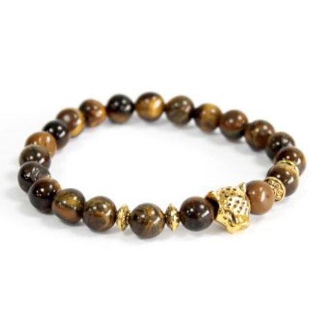 Natural stone bracelet - Tiger eye / Gold tiger