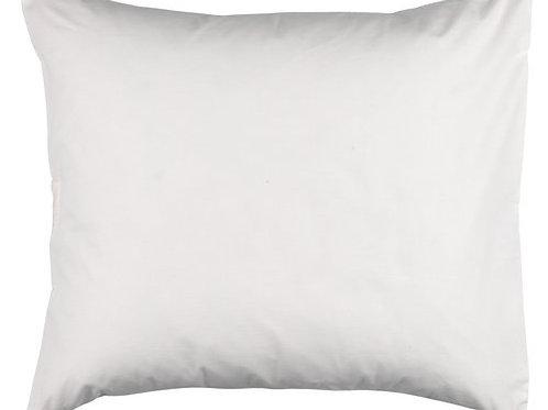 Taie d'oreiller blanche en molleton (60 x 63 cm)