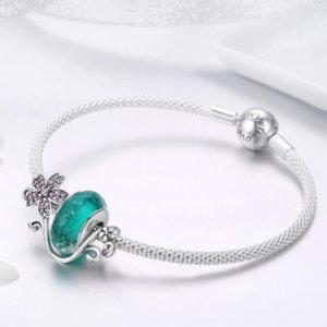 Sterling silver 925 charm bracelet + 1 sakura charm