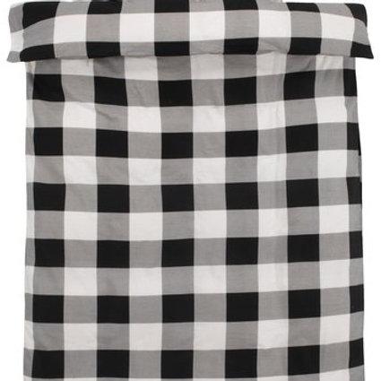 Flannel quilt cover set Scotti, black/white