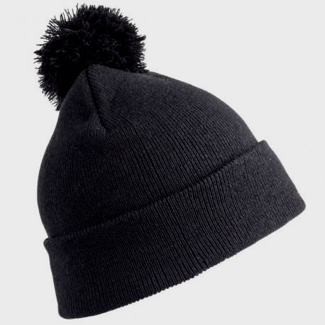 Children's beanie with pom-pom, thick and covering, double thickness