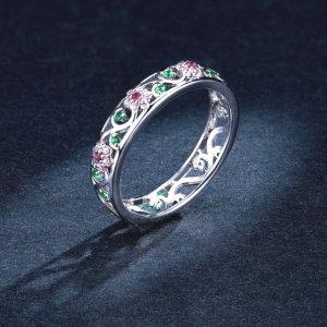 Sterling silver 925 ring, secret garden