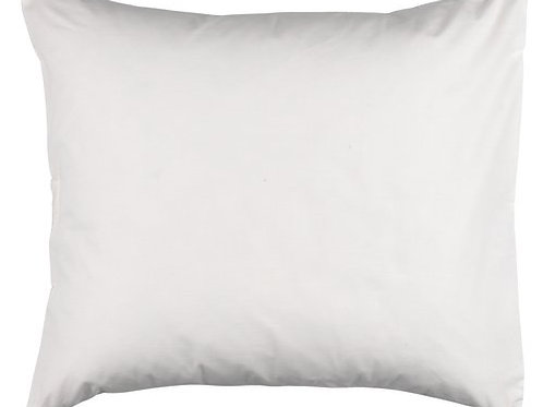 Taie d'oreiller blanche 100 % coton (60 x 63 cm)