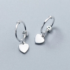 Sterling silver 925 earrings, little hearts